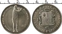Изображение Монеты Андорра 2 динерса 1987 Медно-никель UNC- Тенис новая дисципли
