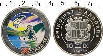 Изображение Монеты Андорра 10 динерс 2008 Серебро Proof Экстрим