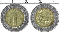 Изображение Монеты Мексика 1 песо 2017 Биметалл UNC-