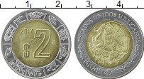 Изображение Монеты Мексика 2 песо 2017 Биметалл UNC-