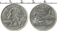 Изображение Мелочь США 1/4 доллара 2006 Медно-никель UNC- D Небраска