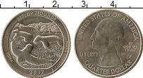 Изображение Мелочь США 1/4 доллара 2017 Медно-никель UNC P, Национальный памя