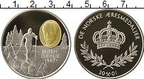 Изображение Монеты Норвегия Жетон 2001 Серебро Proof Спортивная серия.Лыж