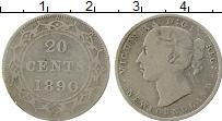 Изображение Монеты Ньюфаундленд 20 центов 1890 Серебро VF Виктория