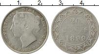 Изображение Монеты Ньюфаундленд 20 центов 1899 Серебро VF