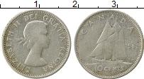 Изображение Монеты Канада 10 центов 1963 Серебро XF Виктория