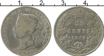 Изображение Монеты Канада 25 центов 1892 Серебро VF Виктория