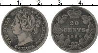 Изображение Монеты Канада 20 центов 1858 Серебро VF Виктория