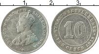 Изображение Монеты Стрейтс-Сеттльмент 10 центов 1919 Серебро XF Георг V
