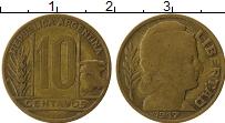 Изображение Монеты Аргентина 10 сентаво 1947 Латунь XF