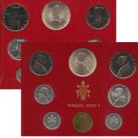 Изображение Подарочные монеты Ватикан Набор 1963 года 1963  UNC