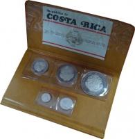 Изображение Подарочные монеты Коста-Рика Выпуск монет 1970 1970 Серебро Proof-
