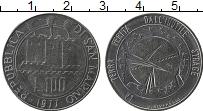 Изображение Монеты Сан-Марино 100 лир 1977 Сталь UNC