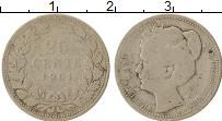 Изображение Монеты Нидерланды 25 центов 1901 Серебро VF
