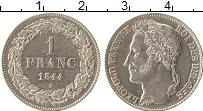 Изображение Монеты Бельгия 1 франк 1844 Серебро XF+