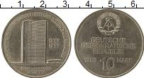 Изображение Монеты ГДР 10 марок 1989 Медно-никель XF+ 40 лет СЭВ
