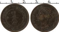 Изображение Монеты Стрейтс-Сеттльмент 1/2 цента 1884 Медь XF- Виктория