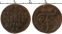Изображение Монеты Вальдек-Пирмонт 1 пфенниг 1799 Медь VF