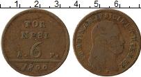 Изображение Монеты Неаполь 6 торнеси 1800 Медь VF Фердинанд IV