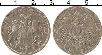Изображение Монеты Гамбург 2 марки 1898 Серебро XF J