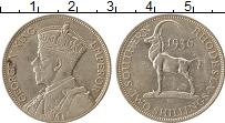 Изображение Монеты Родезия 2 шиллинга 1936 Серебро XF Георг V