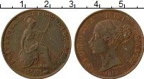Изображение Монеты Великобритания 1/2 пенни 1858 Медь XF Виктория