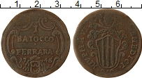 Изображение Монеты Ватикан 1 байоччи 1746 Медь VF Феррара