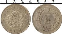 Изображение Монеты Япония 1 йена 1880 Серебро XF+ Надчеканка