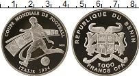 Изображение Монеты Африка Бенин 1000 франков 2002 Серебро Proof