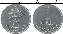 Изображение Монеты Дания 1 эре 1971 Цинк UNC- Фредерик IX