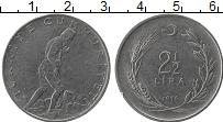 Изображение Монеты Турция 2 1/2 лиры 1975 Медно-никель XF Кемаль Ататюрк