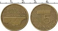 Изображение Монеты Нидерланды 5 гульденов 1989 Латунь XF Беатрикс