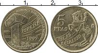 Изображение Монеты Испания 5 песет 1997 Латунь UNC- Всадник