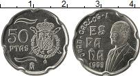 Изображение Мелочь Испания 50 песет 1998 Медно-никель UNC- Хуан Карлос I