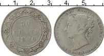 Изображение Монеты Ньюфаундленд 50 центов 1896 Серебро VF Виктория