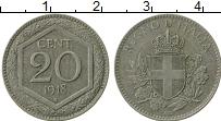 Изображение Монеты Италия 20 сентим 1918 Бронза XF