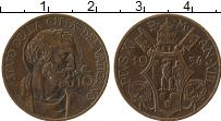 Изображение Монеты Ватикан 10 сентим 1934 Бронза XF Пий XI