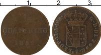 Изображение Монеты Тоскана 1 кватрино 1852 Медь VF