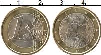 Изображение Мелочь Сан-Марино 1 евро 2019 Биметалл UNC