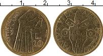 Изображение Монеты Ватикан 20 лир 1975 Латунь UNC- Павел VI