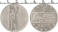 Изображение Монеты Италия 5 евро 2003 Серебро UNC- Европа работает