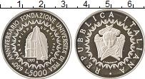 Изображение Монеты Италия 5000 лир 1993 Серебро Proof 50 лет со дня основа