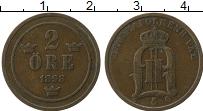 Изображение Монеты Швеция 2 эре 1898 Медь XF Оскар II