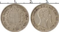 Изображение Монеты Сардиния 50 сентесим 1860 Серебро XF