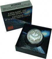 Изображение Подарочные монеты Канада 1 доллар 2000 Серебро BUNC