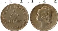 Изображение Монеты Португалия 4 сентаво 1917 Медно-никель XF Девушка