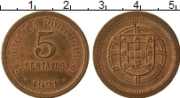Изображение Монеты Европа Португалия 5 сентаво 1921 Медь XF