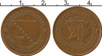 Изображение Монеты Европа Босния и Герцеговина 20 фенигов 1998 Медь XF