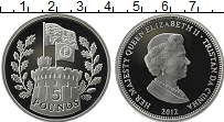 Продать Монеты Тристан-да-Кунья 5 фунтов 2012 Серебро