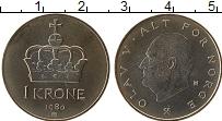 Изображение Монеты Норвегия 1 крона 1980 Медно-никель UNC-